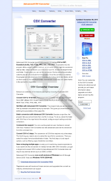 Advanced CSV Converter Personal License preview. Click for more details