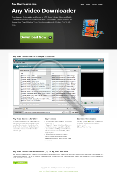 Any Video Downloader Full Version preview. Click for more details