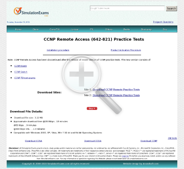 CCNP Remote Access BCRAN Practice Tests Full Version preview. Click for more details