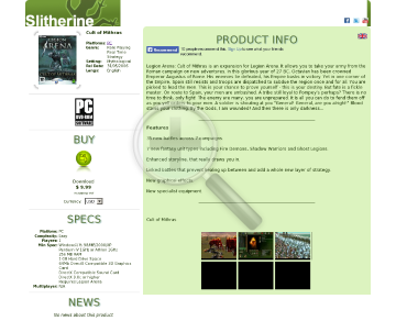 Cult of Mithras PC Download preview. Click for more details
