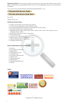 Data Recovery Studio Full Version preview. Click for more details