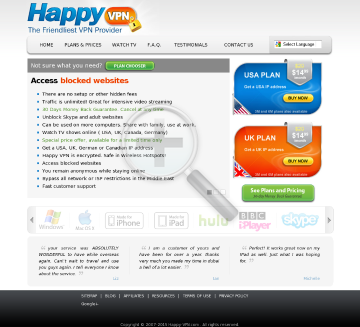 Dedicated IP Happy VPN Biannual Dedicated USA Happy VPN plan discounted preview. Click for more details