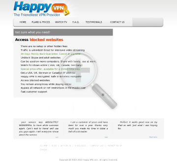 Dedicated IP Happy VPN Quarterly Dedicated USA Happy VPN plan discounted preview. Click for more details