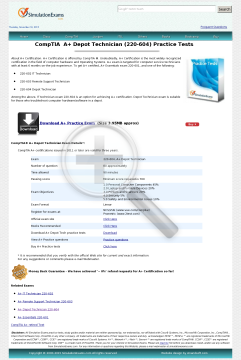 Depot Technician 220604 Practice Tests Full Version preview. Click for more details