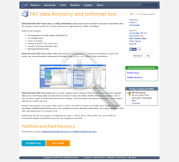 DiskInternals FAT Recovery Full Version preview. Click for more details