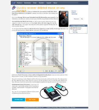 DiskInternals Music Recovery Full Version preview. Click for more details