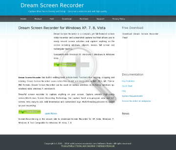 Dream Screen Recorder Full Version preview. Click for more details