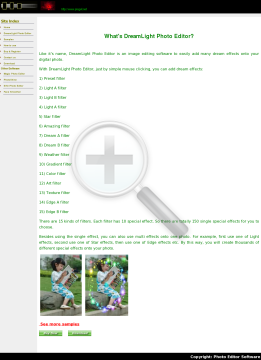 Dreamlight Photo Editor Full Version preview. Click for more details