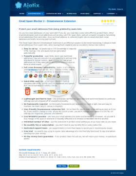 Email Spam Blocker Dreamweaver Extension Full Version preview. Click for more details