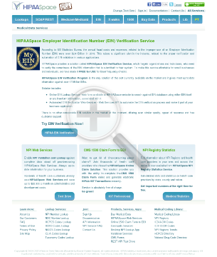 Employer Identification Number Web Services API Annual preview. Click for more details