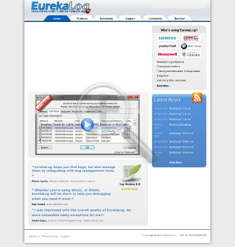 EurekaLog Professional Single License with year of free updates preview. Click for more details