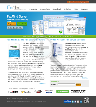 FaxMind server includes Users Fax Lines Year Upgrade Protection preview. Click for more details