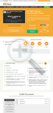 ISO 9001 Premium Documentation Toolkit English package with 76 templates preview. Click for more details
