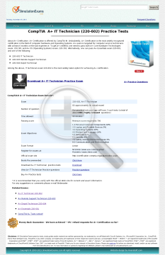 IT Technician 220602 Practice Tests Full Version preview. Click for more details