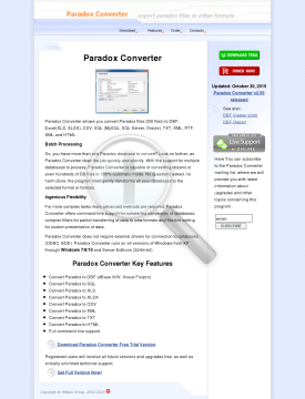 Paradox Converter Personal license preview. Click for more details