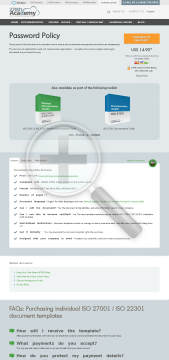 Password Policy ISO 27001 template in English preview. Click for more details