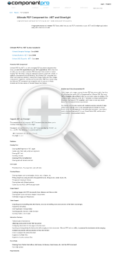 PDF Component for NET Early Renewal Premium Version for Company With Source Code Year Subscription preview. Click for more details
