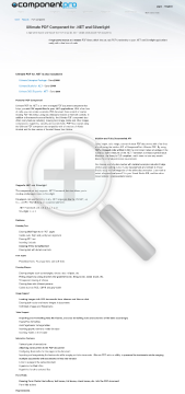 PDF Component for NET Late Renewal Premium Version for Developer With Source Code Year Subscription preview. Click for more details