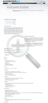 PDF Component for NET Premium Version for Developer With Source Code Year Subscription preview. Click for more details
