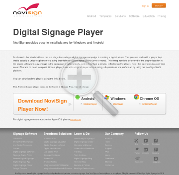 Player digital signage license Annual subscription license for screen player preview. Click for more details