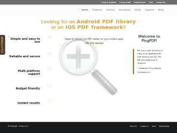 PlugPDF SDK Android preview. Click for more details