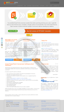 PPT2SWF Converter One Day License preview. Click for more details