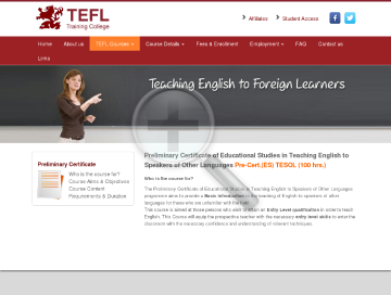 Preliminary Certificate ES TESOL 100 hr Course preview. Click for more details