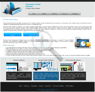 Purchase Order Management Software Full Version preview. Click for more details