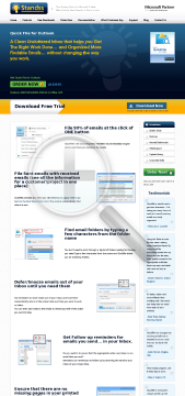 QuickFile for Outlook Standard Version Full Version preview. Click for more details