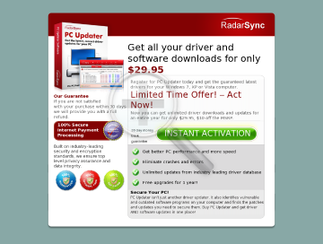 RadarSync PC Updater 2010 24 months subscription Best Deal preview. Click for more details
