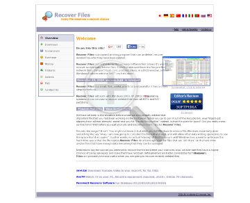 Recover Files Site License preview. Click for more details