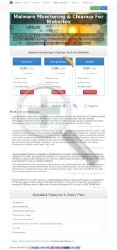 ThreatSign Website AntiMalware security solution Professional account Yearly plan to domains 399USD yr preview. Click for more details