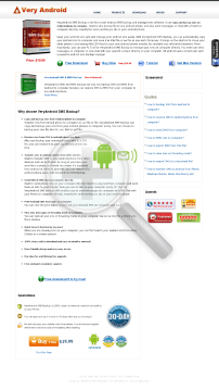 VeryAndroid SMS Backup Full Version preview. Click for more details