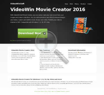 VideoWin Movie Creator Full Version preview. Click for more details