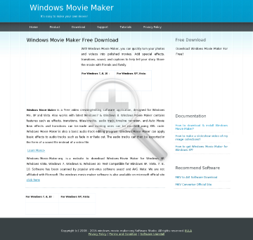 Windows Movie Maker Full Version preview. Click for more details