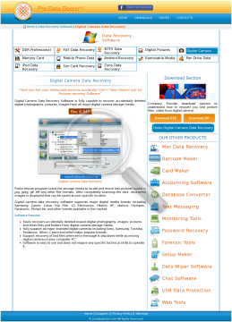 Digital Camera Data Recovery Software Technician Service Provider User License preview. Click for more details