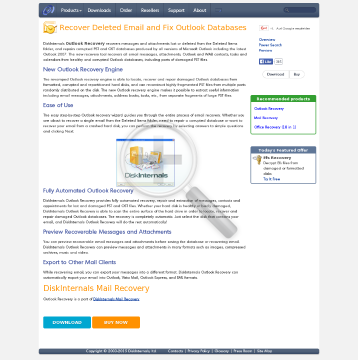 DiskInternals Outlook Recovery Business license preview. Click for more details